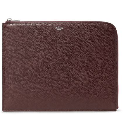 Mulberry Full-grain Leather Pouch - Burgundy