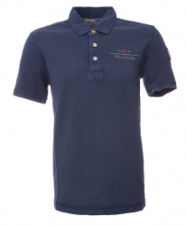 Napapijri Herren Poloshirt Elbas kurzarm Blau grau