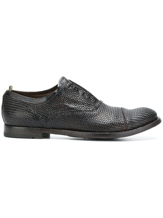 Officine Creative  lace fastening loafers - Braun grau