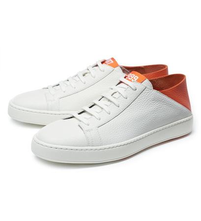Santoni Sneaker '999 Orange Edition' weiß/orange grau