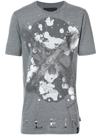 Philipp Plein  'Daylight Black Cut' T-Shirt - Grau