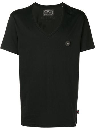 Philipp Plein  logo patch T-shirt - Schwarz