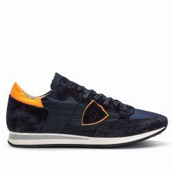Philippe Model Herren Sneaker Tropez Mondial Fluo Orange Navy schwarz