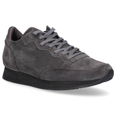 Philippe Model  Sneaker PARADIS Kalbsvelours Logo grau grau