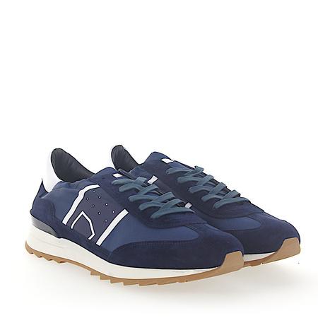 Philippe Model  Sneaker TOUJOURS Veloursleder Nylon blau Leder weiss grau