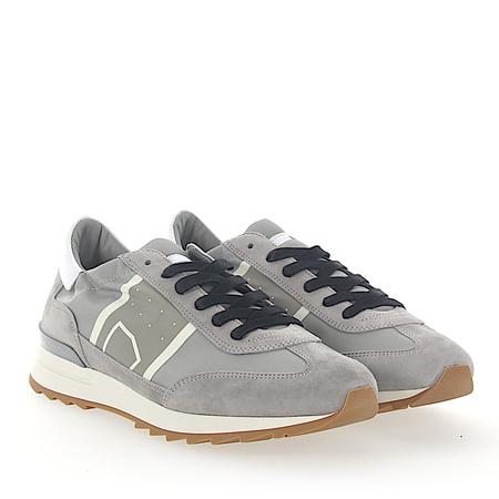 Philippe Model  Sneaker TOUJOURS Veloursleder Nylon grau Leder weiss grau