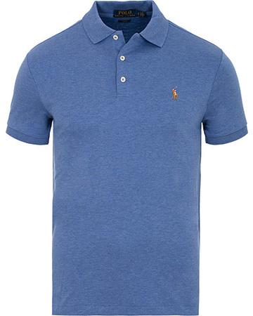 Polo Ralph Lauren Kurze Ärmel von . Grösse: XS. Farbe: Blau.  Slim Fit Pima Cotton Polo Faded Royal Herren blau