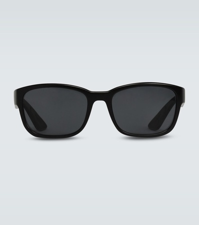 Prada Quadratische Sonnenbrille grau