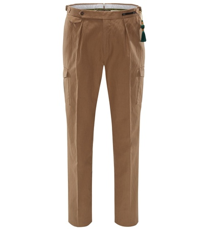PT01 Pantaloni Torino Cargo-Hose 'Colonial Party Bombay Hills Gentleman Fit' beige braun