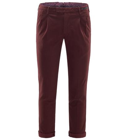 PT01 Pantaloni Torino Chino 'Skinny Fit' bordeaux braun
