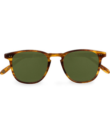 Garrett Leight Gebogene Sonnenbrillen von . Grösse: One size. Farbe: Braun.  Brooks 47 Sunglasses Pinewood/Pure Green Herren grau