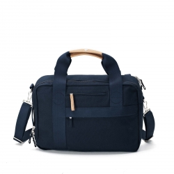 Qwstion Office Tasche Organic Navy Blau grau