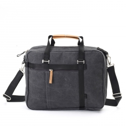 Qwstion Office Tote Tasche Washed Black grau