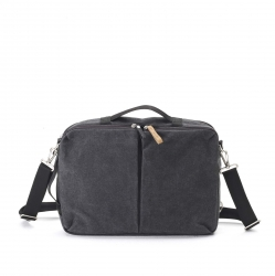 Qwstion Simple Office Tasche Washed Black grau