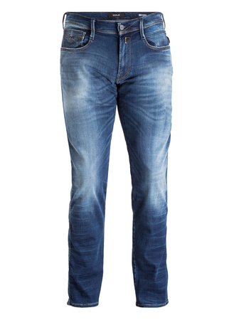 Replay  Jeans ANBASS HYPERFLEX Slim-Fit grau