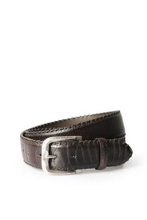 Reptile's House  Straussenleder-gürtel Herren Farbe: schwarz verfügbare Größe: 90|95|100|105 schwarz