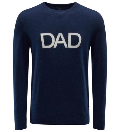 Ron Dorff Cashmere R-Neck Pullover 'Dad' navy schwarz