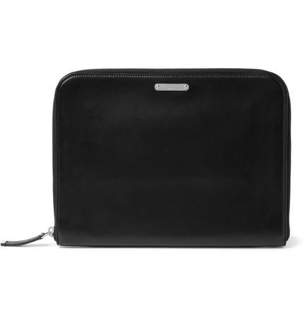 Saint Laurent Paris Leather Pouch - Black