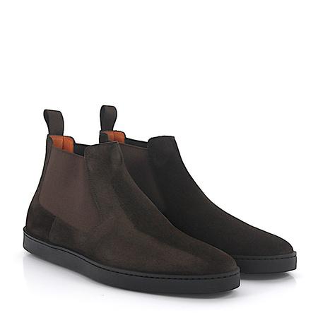 Santoni  Chelsea Boots 15239 Veloursleder braun grau