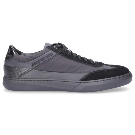 Santoni  Sneaker low 21199 Nylon Wildleder schwarz grau