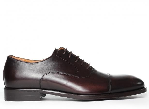 Schuhe & Handwerk Herren Business-Oxford, Dunkelbraun schwarz