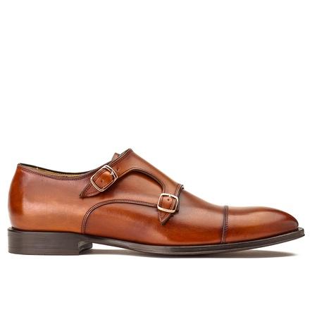 Schuhe & Handwerk Herrenschuh, Monk, cognac braun