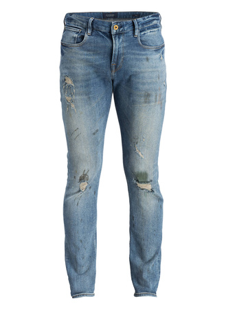 Scotch & Soda  Destroyed-Jeans TYE Slim Carrot-Fit grau