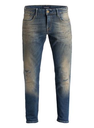 Scotch & Soda  Destroyed-Jeans TYE Slim Carrot-Fit grau