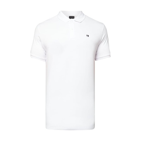 Scotch & Soda Poloshirt mit Logo-Stickerei weiss