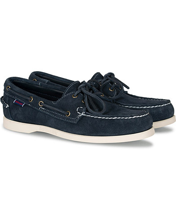 Sebago Segelschuhe von . Grösse: US7 - EU40. Farbe: Blau.  Docksides Suede Boat Shoe Navy Herren grau