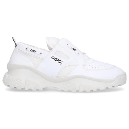 Sneaker low UMAYLA TYLA Eco Nappaleder Logo weiß grau