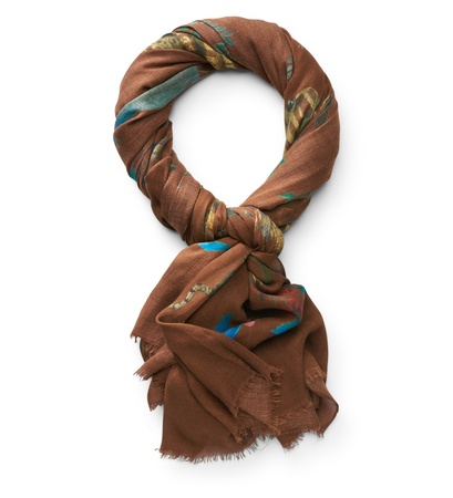 Stile Latino Schal rostbraun gemustert braun