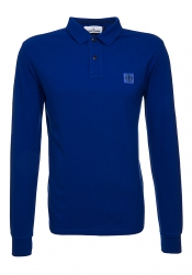 Stone Island Herren Poloshirt langarm Blau blau