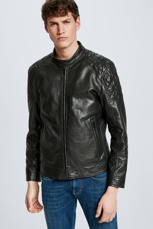 Strellson  Lederjacke Darwin,  S.C. Collection, schwarz Damen 48 schwarz