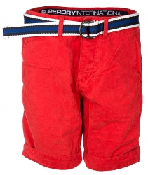Superdry Herren Bermuda Shorts International Chino Rot rot