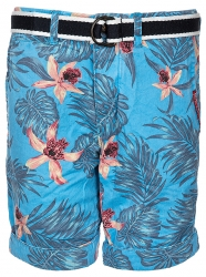 Superdry Herren Bermuda Shorts International Print Chino Blau grau