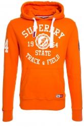 Superdry Herren Hoodie Trackster Hood Orange orange