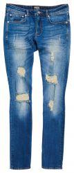 Superdry Herren Jeans Skim Electric Vintage Blue Destroy blau