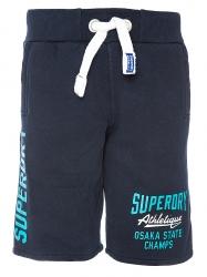 Superdry Herren Shorts Marine Blau grau