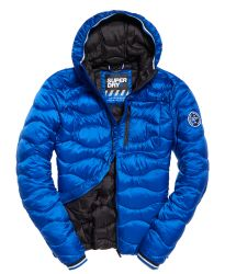 Superdry Herren Steppjacke Wave Quilt Flash Cobalt blau