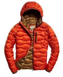 Superdry Herren Steppjacke Wave Quilt Orange rot
