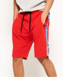 Superdry Herren Sweatshorts Stadium Upstate Red weiss