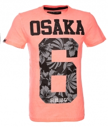 Superdry Herren T-Shirt Osaka Neon Koralle orange
