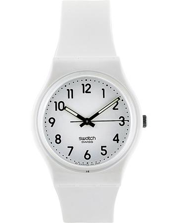 Swatch Uhren von . Grösse: One size. Farbe: Weiß.  Just White Soft White Herren grau