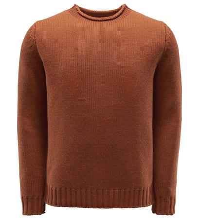04651/ Sylt Cashmere R-Neck Pullover rostbraun braun