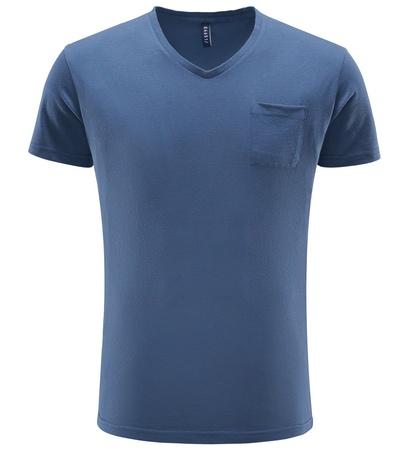 04651/ Sylt V-Neck T-Shirt graublau grau