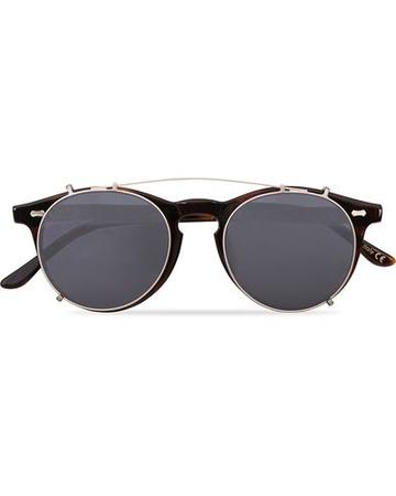 TBD Eyewear Runde Sonnenbrillen von . Grösse: One size. Farbe: Braun.  Pleat Clip On Sunglasses Classic Tortoise Herren grau