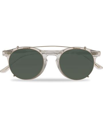 TBD Eyewear Runde Sonnenbrillen von . Grösse: One size. Farbe: Transparent.  Pleat Clip On Sunglasses Transparent Herren grau