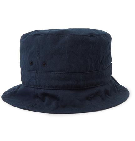 Thom Browne Cotton-canvas Bucket Hat - Storm blue grau