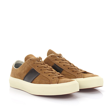 Tom Ford  Sneaker J0974T Veloursleder beige Leder brown braun